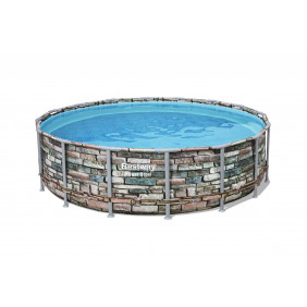 Каркасный бассейн BESTWAY Power Steel 488х122см
