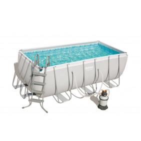 Каркасный бассейн Bestway Power Steel с песч.фильтром 412х201х122см