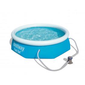 Надувной бассейн Bestway Fast Set с фильтр-насосом 244х66см